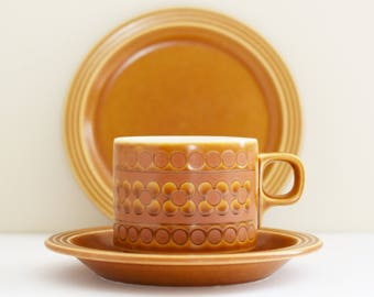 Vintage Hornsea - Saffron Design-  Staffs England - Tea Cup,Saucer and Side Plate - John Russell Design - 60 - 70's Era