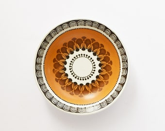 Vintage Small Dish - Trinket Bowl  - Inca Design - Wood & Sons - Burslem England -  Condiment Dish  Trinket Dish - Retro design - 1970's Era