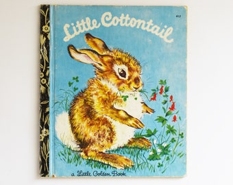 Retro Children's Book - Little Golden Book - Little Cottontail - 1974 Edition