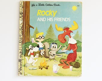 Vintage Children's Book - Little Golden Book - Rocky and His Friends-  1973 Edition