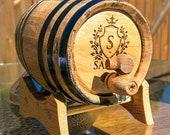 Bourbon Barrel, Whiskey Barrel, Gifts for Groomsmen, Personalized Wine Barrel, Groomsmen Gift, Wooden Barrel