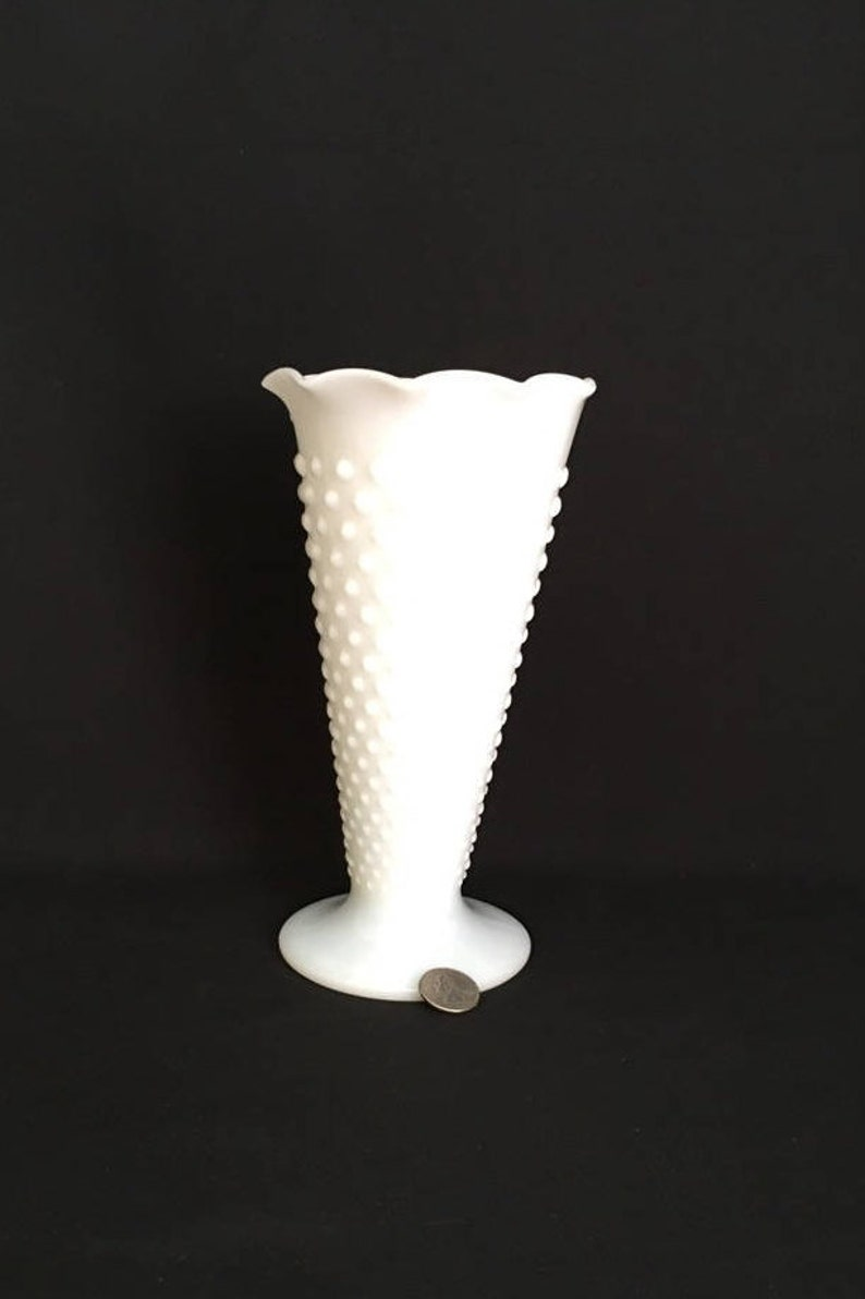 Kleine Vase Mit Milch Weiß Groß Hobnail Knopf Vasen Große Etsy