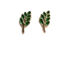 Masonic Spring of Acacia gold tone earring, freemason earring, freemason spring of acacia earring,freemasonry acacia earring