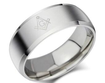 Freemason Masonic Square and Compass Ring, Masonic Ring, Freemason Ring