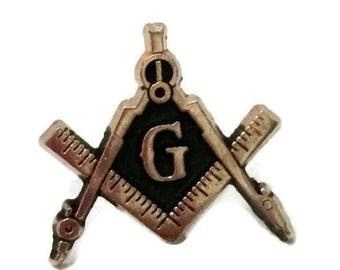 Masonic Square & Compass Lapel Pin, freemason square and compass lapel pin, freemasonry square and compass