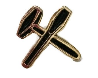 Masonic Tools Lapel Pin, Freemason Tools lapel Pin, Freemasonry Tools Lapel Pin