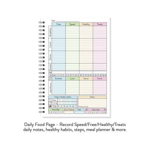 A5 Diet Diary Food Diary For Weight Watchers Slimming Etsy