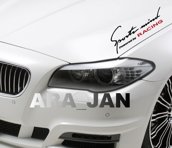 Sports Mind Racing Vinyl Decal Sticker Sport Car Hood Logo Etsy
