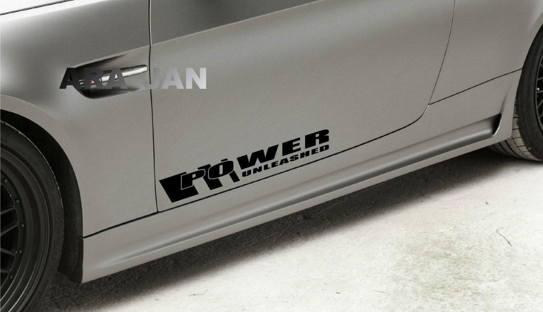 POWER UNLEASHED Vinyl Decal Sticker Performance Motorsport Sport Car Emblem logo