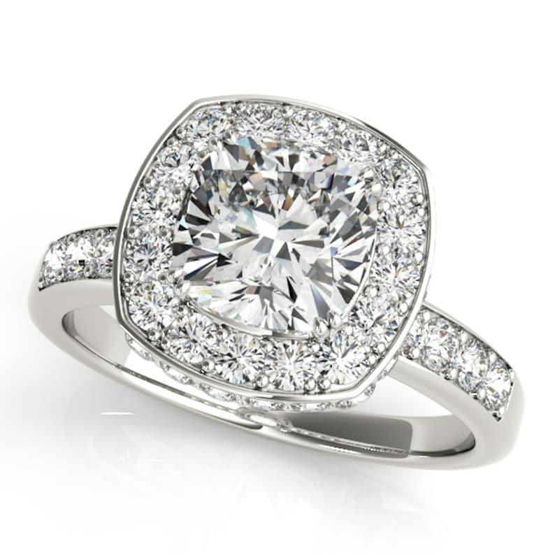 Cushion Diamond Engagement Ring Cushion Cut Engagement Ring Cushion Cut Diamond Engagement Ring Cushion Halo Engagement Ring Cushion Cut