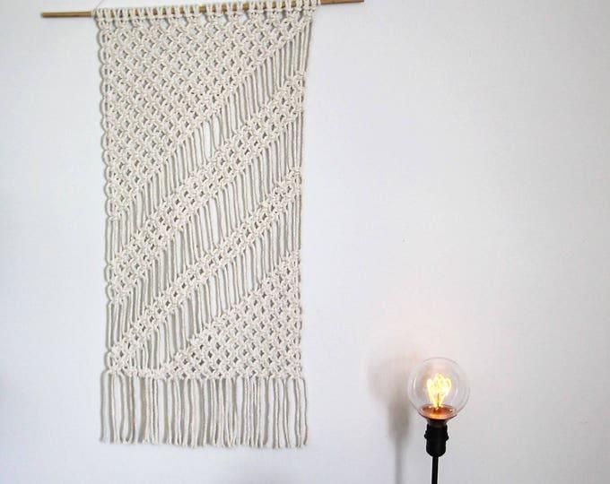 Handmade wall hanging / macrame / shabby chic decor / original wall hanging / bohemian / nautical nursery