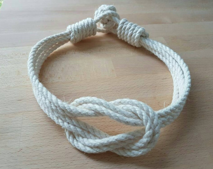 Cotton rope double square knot curtain tiebacks small knot shabby chic nautical style beach house window treatment rope tie-backs old-white