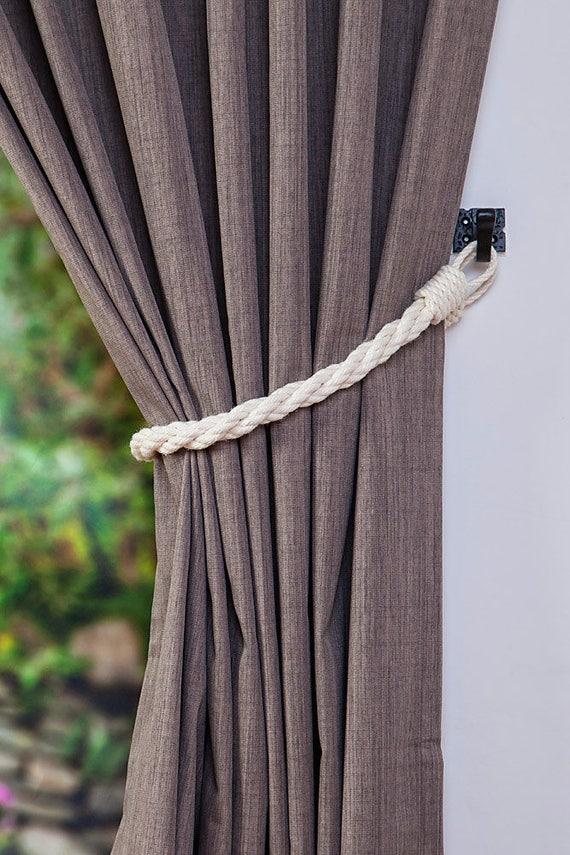Coton corde Twist blanc Rideau embrasse / Rideau nautique | Etsy
