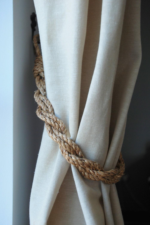 Rustic Manila Rope Curtain Tiebacks Shabby Chic Nautical
