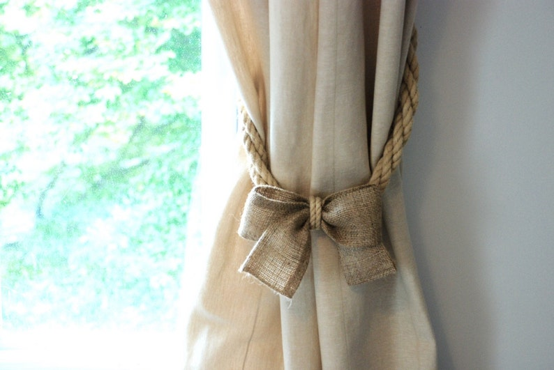 Home D\u00e9cor Black Agate Curtain Tiebacks