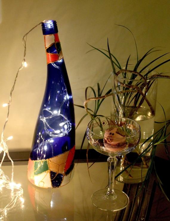 Servietten Flasche Dekoriert Flaschen Ein Geschenk Fur Das Etsy