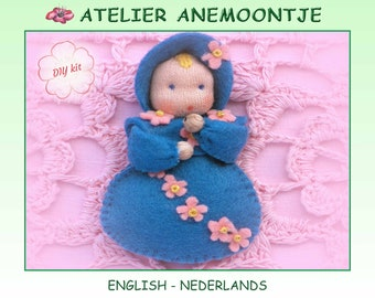 Forget-me-not baby brooch