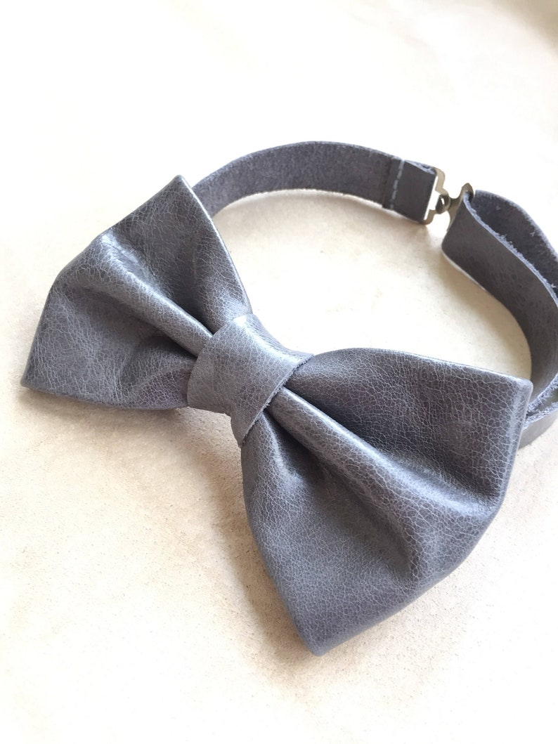 5b92b324c78f Men's bowtie/ Leather bow ties/ suit accessory/ formal   Etsy