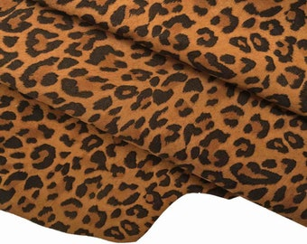 ST very soft in 4 colours   A9912-MT La Garzarara Italian leather black base kid with crackle effect foil and light leopard print
