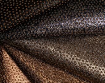 Metallic printed leather