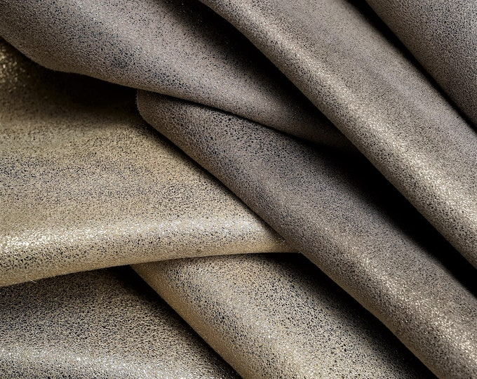 useful for clothing too  A568 La Garzarara very lightweight and soft skin Italian leather laminated fabric effect