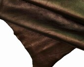 Italian leather, milled dark brown goat, small grain, vintage effect, super soft, vintage-refined look, 32 x 31 39 39 A9509-MT La Garzarara