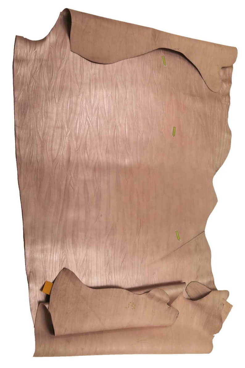Italian leather La Garzarara soft sporty-refined look laminated calfskins with bark effect print in two colors  A9439-MT semigloss ST