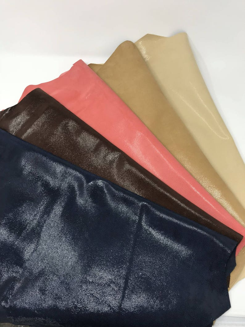 Italian leather suede with glossy little lizard printing in five different colors soft skin    A2229-ST  La Garzarara