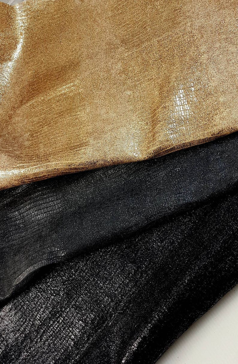d98e57bdb113 Italian leather pack of 3 tejus printed with glitter lizard
