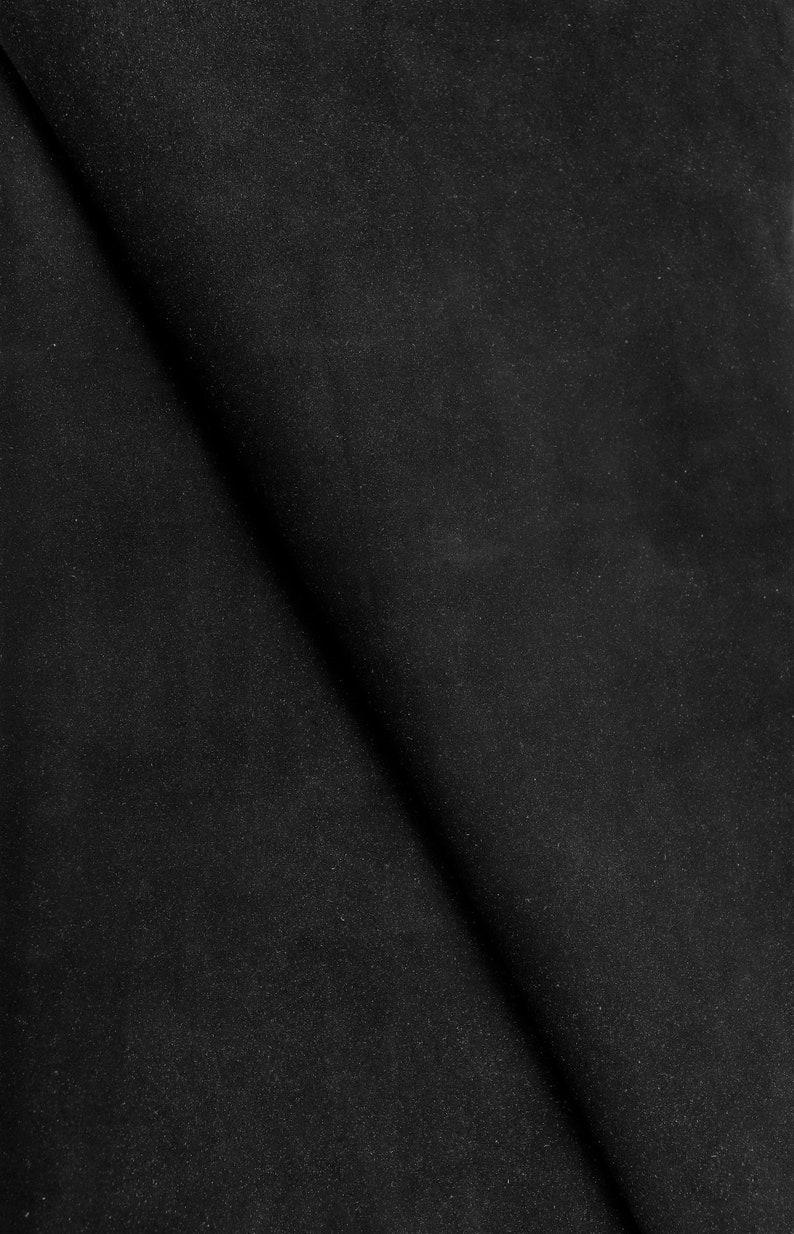 soft skin   A2785-TB  La Garzarara slightly pearled black suede Italian leather