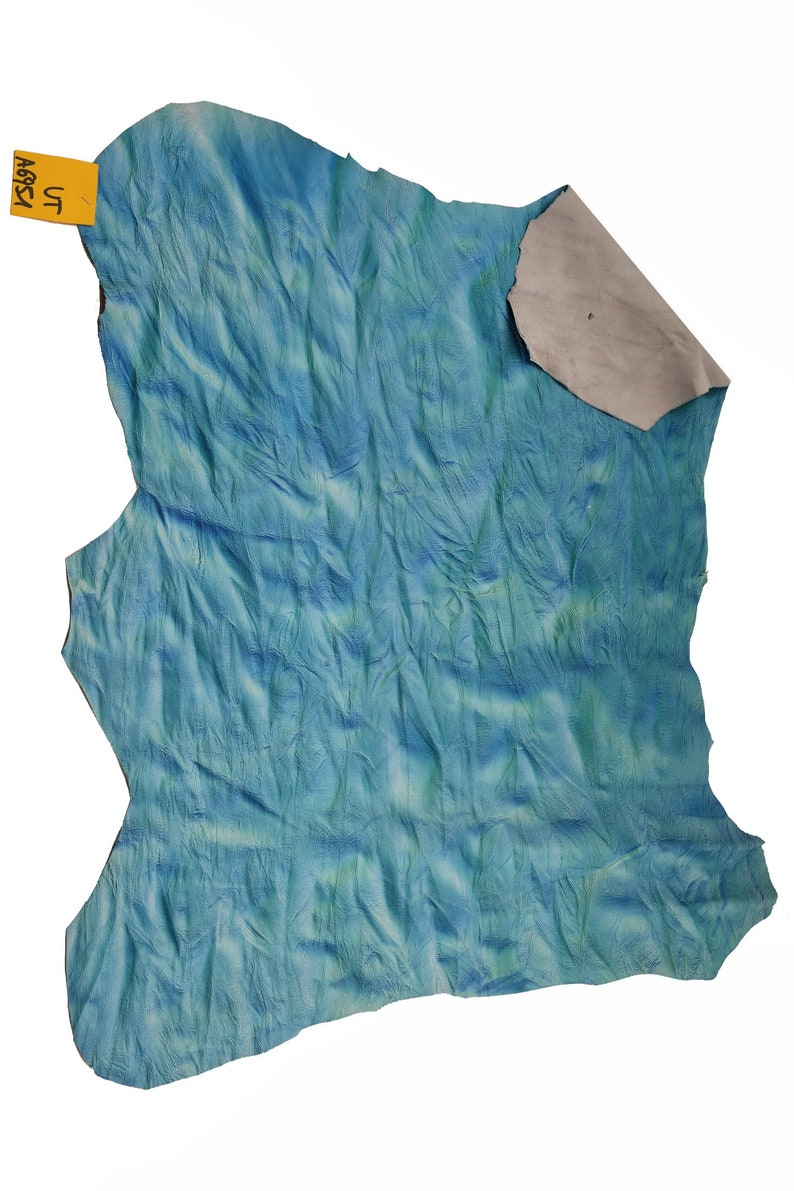 size 19x21/'/' thickness 0.6 mm Italian leather very soft   A6951-VT La Garzarara wrinkled looking bicolor shaded kid hide sporty style