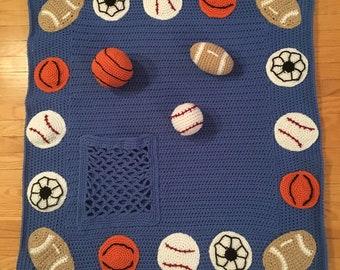 Kids sports activity blanket