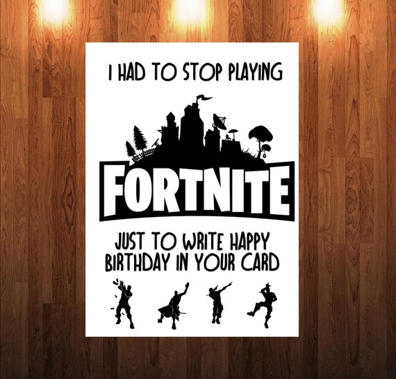 Impeccable image inside fortnite birthday card printable