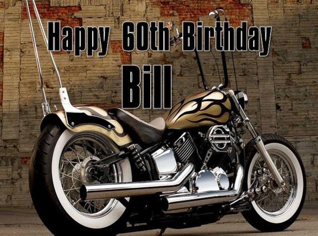 Personalised Harley Davidson Motorbike Birthday Card Any Name Etsy