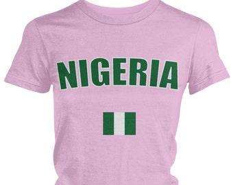 Nigeria Ladies Juniors T-Shirt 5ecc69708