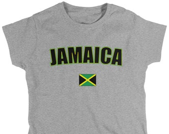 Jamaica  Ladies T-Shirt, Jamaican Pride, Soccer, Kingston, Women's Jamaica Soccer Shirts AMD_JAM_08