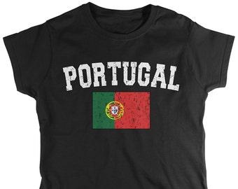 4b265f48 Distressed Bold Portugal Country Flag Ladie's T-Shirt, Portuguese Flag,  Pride, Portuguese Republic, Women's Portugal Shirts AMD_POR_02
