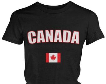 Threadrock Baby Canada National Team Infant T-shirt Canadian Flag Olympics