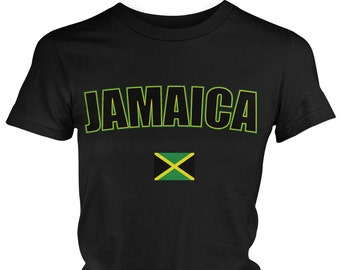 Jamaica Ladies Juniors T-Shirt, Jamaican Pride, Soccer, Kingston, Ladies Juniors Jamaica Soccer Shirts AMD_JAM_08