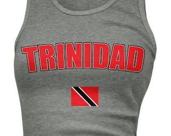Trinidad Bold Ladies Juniors Tank Top, Trinidadian Pride, Trinidad and Tobago, Ladies Juniors Trinidad Soccer Tank Tops AMD_TRI_08