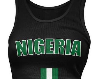 Nigeria Flag Ladies Juniors Tank Top 4ccc80aa9