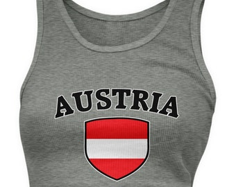 8626d8184ac Austria Country Flag Crest Ladies Juniors Tank Tops, Austrian Pride,  Viennna, Ladies Juniors Austria Soccer Tank Tops AMD_AST_03