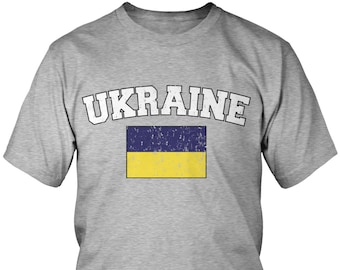 Distressed Ukraine Men s T-Shirt b3e162831