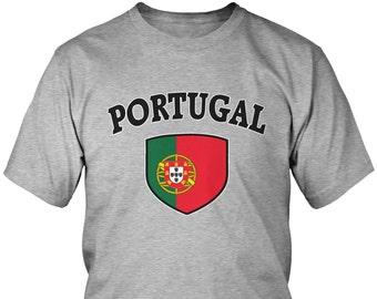 dbe9f1381 Portugal Country Flag Crest Men's T-Shirt, Portuguese Flag, Pride,  Portuguese Republic, Men's Portugal Soccer Shirts AMD_POR_03
