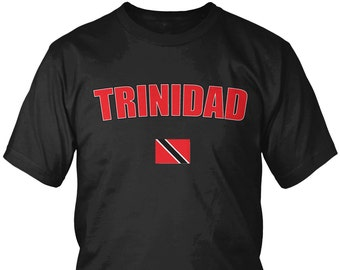Trinidad Bold Men's T-Shirt, Trinidadian Pride, Trinidad and Tobago, Men's Trinidad Soccer Shirts AMD_TRI_08