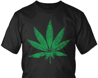 f9e9233796 Distressed Green Marijuana Leaf Men s T-Shirt