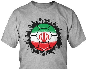 80602fe38 Iran Paint Splatter Flag Soccer Ball Men s T-Shirt
