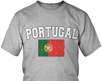f268ef4e Distressed Bold Portugal Country Flag Men's T-Shirt, Portuguese Flag,  Pride, Portuguese Republic, Men's Portugal Shirts AMD_POR_02