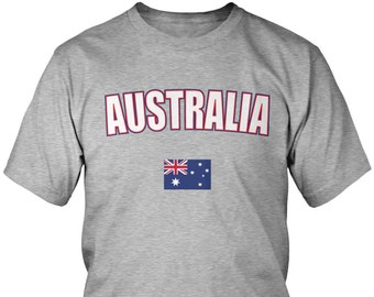 b878d39b1 Bold Australia Men's T-Shirt, Australian Flag, Commonwealth of Australia,  Pride, Men's Australia Shirts AMD_AUS_08