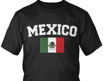 bca9572279d Distressed Mexico Country Flag Men s T-Shirt